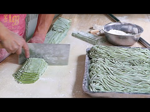 Xxx Mp4 Xian Street Food Making Chinese Spinach Noodles 3gp Sex