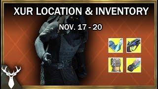 Destiny 2 - Xur Location and Inventory (Nov. 17 - 20)