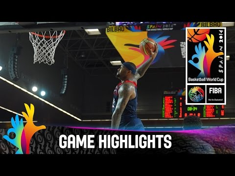 watch Dominican Republic v USA - Game Highlights - Group C - 2014 FIBA Basketball World Cup