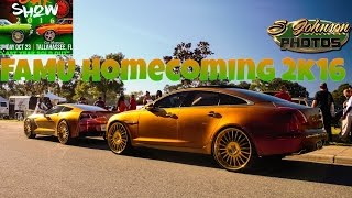 Famu homecoming car show 2k16 in HD (must see) (Loud music, big rims, candy paint, and big trucks)