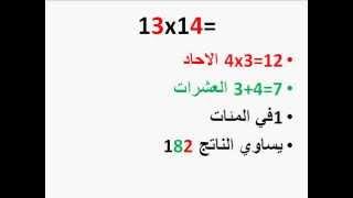 عبقري الرياضيات اسهل طريقة لحفظ جدول ضرب الارقام ما بين 11 و 19
