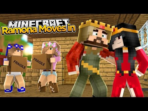 Minecraft Royal Family : EVIL STEPMOM RAMONA MOVES IN! w/Little Kelly & Little Carly
