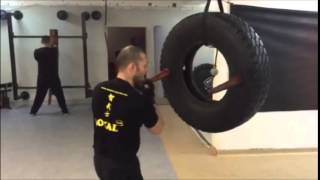 Wing Chun -New way of training - tire dummy- Sifu Jelovac