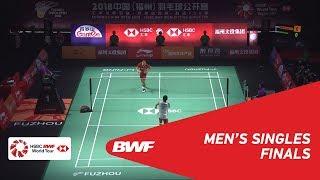 F | MS | Kento MOMOTA (JPN) [1] vs CHOU Tien Chen (TPE) [4] | BWF 2018