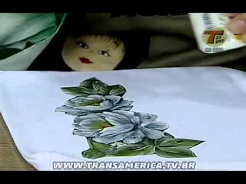 Tv Transamérica Técnica Decoupage em tecido Camiseta