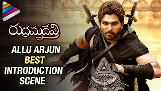 Allu Arjun Powerful Introduction Scene | Rudhramadevi Tamil Movie | Anushka | Rana Daggubati