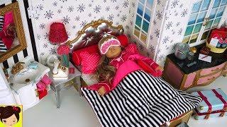 Rutina de la Mañana en el Hotel de Muñecas America Girl con Elsa y Anna - Juguetes de Titi