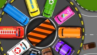 Learn Colors with Toy Street Vehicles Parking - Videos for KIDS