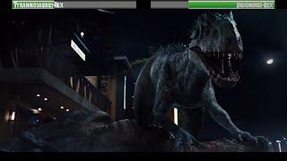 Tyrannosaurus-Rex vs Indominus-Rex...with healthbars