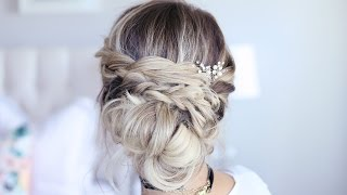 Holiday Twisted Updo | Holiday Hairstyle | Cute Girls Hairstyles
