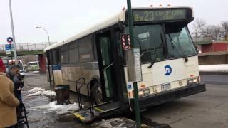 MTA Bus: Ex-Bee Line Orion V #164 Bx23 Bus @ Pelham Bay Park Station: Wheelchair Lift
