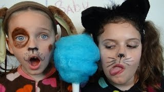 Bad Baby Puppy & Kitty Victoria & Annabelle Freak Daddy Hidden Egg Gross