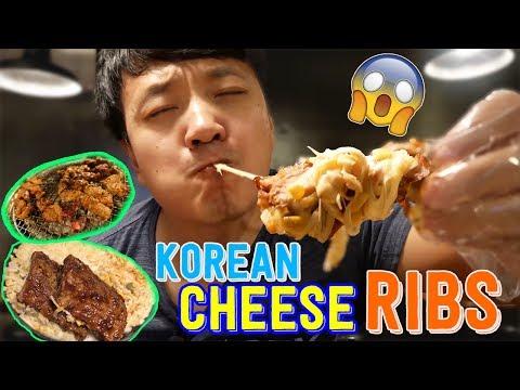 Spicy Cheesy MASSIVE Korean RIBS Galbi Tour of Seoul South Korea