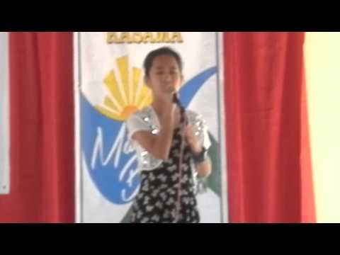 Amira Medina singing the Naic Hymn Naic Pawikan Festival 15