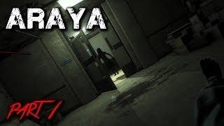 تختيم لعبة الرعب Araya Arabic الحلقة #1   بداية الرعب مع البنت ام ضحكة سافله