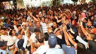 """بالفيديو حسن الرداد """"  وسط  الالف من الجمهور  احتفالا بـ"""" البس عشان خارجين """""""