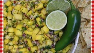 Mango Pineapple Salsa Recipe ~ How to Make Fruit Salsa ~ Noreen's Kitchen