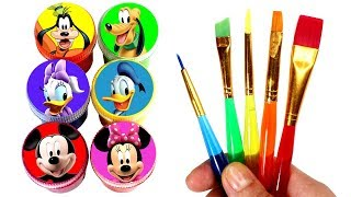 Learn Colors with Mickey Mouse and Friends with Toys Mickey Minnie Daisy Duck Donald Goofy Pluto