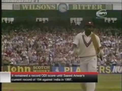 Greatest ODI Innings Ever By Viv Richards 189 Part 1