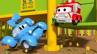 Baby Katy had an accident ! - Amber the Ambulance in Car City l Cartoons for Children