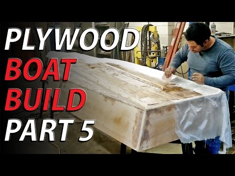 HomeMade plywood boat part 5 EPOXY AND FIBERGLASS
