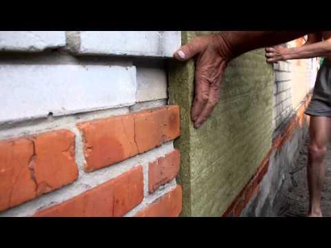 Как утеплить каменной ватой своими руками