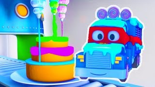 Carl the Super Truck and the Ice Cream Truck in Car City, Trucks Cartoon for kids