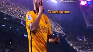 اهداف مباراة فالنسيا وبرشلونة  1-1 (5\12\2015)