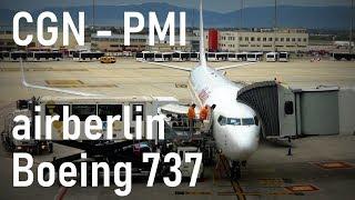 Airberlin Flight Cologne - Palma de Mallorca | Boeing 737-800 D-ABBD | 30.04.2016