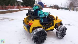 Power Wheels ride on Jeep Assembling Car toys video for kids Family fun Playtime Cars video for kids