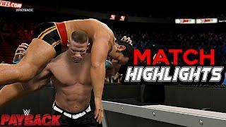 WWE Payback 2015 -  John Cena vs Rusev I Quit Match Highlights - WWE United State Championship!