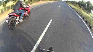 KTM DUKE 200 vs PULSAR RS 200 Highway Racing#Run2