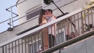 Dakota Johnson and Jamie Dornan Kiss on the 50 Shades of Grey set in Paris