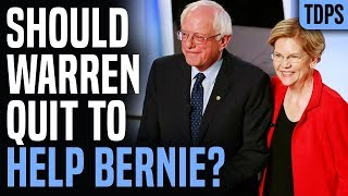 Should Warren Quit to Help Bernie?