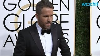 Ryan Reynolds And Andrew Garfield Kiss At The Golden Globes