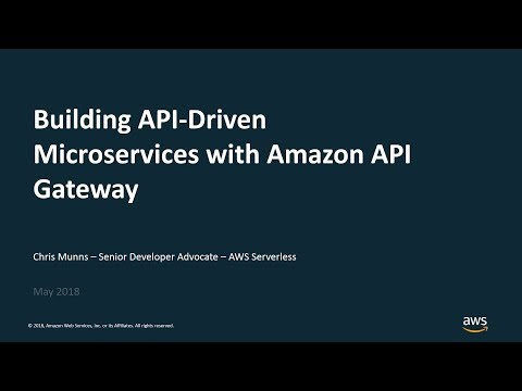 Xxx Mp4 Building API Driven Microservices With Amazon API Gateway AWS Online Tech Talks 3gp Sex