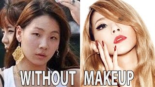 TOP KPOP STARS WITH VS. WITHOUT MAKEUP VIDEO