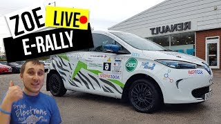 Out in the rally Renault zoe