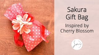 Cherry Blossom Gift Bag for Mother's Day