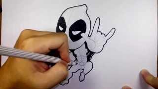 เดธพูล Deadpool จาก Deadpool วาดการ์ตูน กันเถอะ