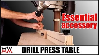 Drill Press Table   Essential Woodworking Shop Project