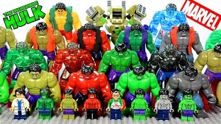 Incredible LEGO Hulk™ Minifigure & Big Figure Complete Collection Marvel Super Heroes