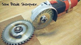Making Saw Blade Sharpener using a Hand Grinder || Angle Grinder Hack