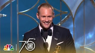 Alexander Skarsgård Wins Best Supporting TV Actor at the 2018 Golden Globes