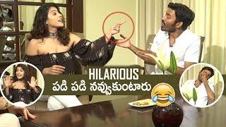 Actress Kajol Making Super Fun On Dhanush | Hilarious | #VIP2 | TFPC