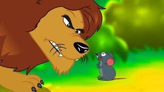 Le Lion et Le Rat | Fable de La Fontaine |  dessin animé en français avec les P