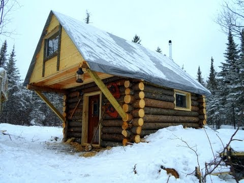 Cozy Log Cabin How I built it for less than 500.