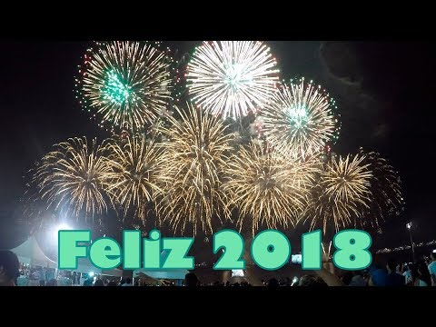 Fogos para 2018 na Ponta Negra Manaus
