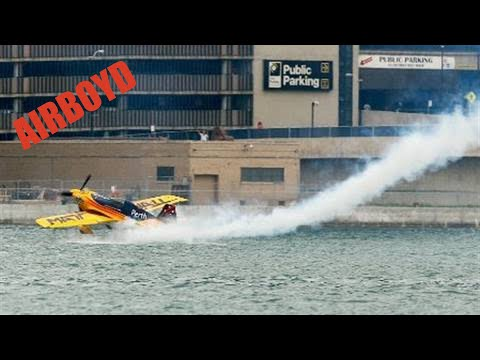 Matt Hall Skims Water During Red Bull Air Race Qualifying In Windsor 2010