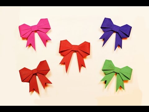 How to make a paper Bow?